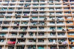 Facade of an apartment tower in Hong Kong Stock Photo
