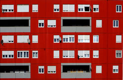Facade of apartments building Royalty Free Stock Photo