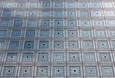 Facade of Arab World Institute (Institut du Monde Arabe) in Paris Royalty Free Stock Photos