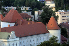 The facade of the Archbishop`s Palace in Zagreb Royalty Free Stock Photography