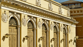 The facade of the arena in the sunlight Stock Photography