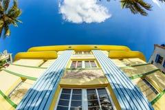 Facade of art deco building at Royalty Free Stock Photo