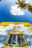 Facade of art deco building at Royalty Free Stock Image