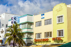 Facade of art deco buildings at Royalty Free Stock Image