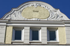 Facade of Art Nouveau building Royalty Free Stock Images