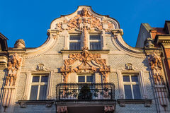 Facade of  an Art Noveau tenement Royalty Free Stock Photo