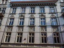 Facade of Art Noveau tenement Stock Image