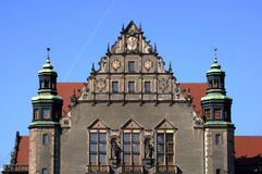 Facade assembly hall university in Poznań Royalty Free Stock Images