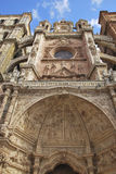 Facade of Astorga Cathedral Stock Photos