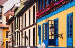 Facade of  asturian dwelling house Stock Photo