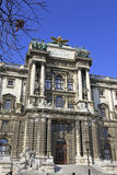 Facade of the austrian national library Stock Images