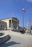 Facade of Austrian Parliament Building, Vienna, Austria Royalty Free Stock Image
