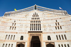 Facade av basilicaen av annunciationen, Nazareth royaltyfri fotografi