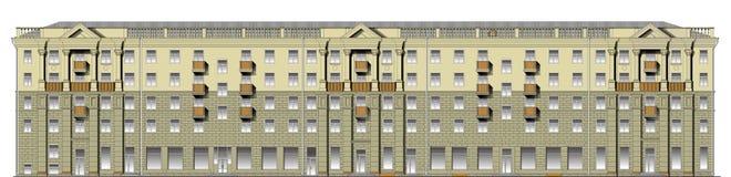 Facade av klassisk byggnad i vektor royaltyfri illustrationer
