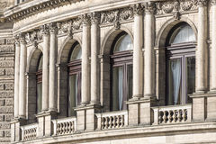 Facade av operahuset Dresden Arkivfoto