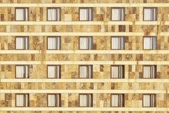 Facade av simetric fönster Arkivbilder