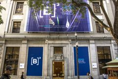 Facade of the B3, a Stock Exchange located at Sao Paulo. Sao Paulo, Brazil, March 30, 2017. Facade of the B3, a Stock Exchange located at Sao Paulo, Brazil and royalty free stock photos