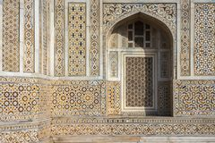Facade of `Baby Taj` mausoleum in Agra, India. royalty free stock photography