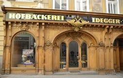 Facade of bakery in Graz Stock Photos