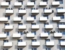 Facade with balconies Stock Photos