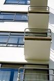 Facade with balconies Stock Photo