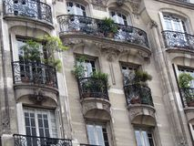 Facade with balconies Royalty Free Stock Images