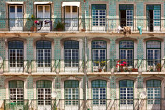 Facade with balcons Stock Images