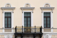 Facade with a balcony. Stock Images