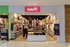 Facade of baleno clothing shop Stock Image