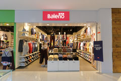 Facade of baleno clothing shop Stock Image