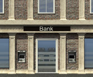 Facade of a bank branch. With automated teller machine Royalty Free Stock Photo