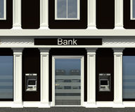 Facade of a bank branch Royalty Free Stock Photography