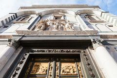 Facade of baptistery with East doors in Florence Stock Photography