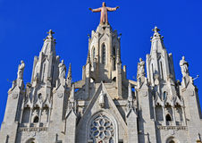 Facade of Barcelona church Royalty Free Stock Photo