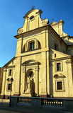 Facade of the Baroque catholic church Royalty Free Stock Images