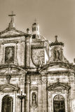 Facade of baroque church, Grotto and Parish Church of St Paul Stock Image