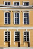 Facade of baroque palace in Rogalin Stock Images