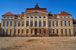 The facade of the baroque palace in Rogalin Royalty Free Stock Images