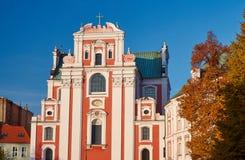 Facade of baroque parish church Stock Photography