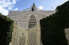 Facade of Basilica of the Annunciation, Nazarethץ Stock Images