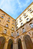 The facade of the Basilica in the Benedictine Abbey of Montserra Stock Photography
