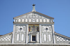 Facade of the Basilica di San Miniato, Florence Stock Photo