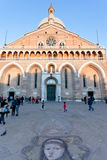 Facade of Basilica di Sant'Antonio da Padova. PADUA, ITALY - NOVEMBER 1: facade of Basilica di Sant'Antonio da Padova. The basilica was begun about the year 1230 Stock Photos