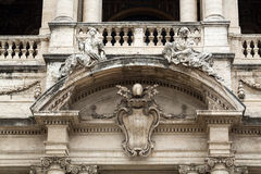 Facade of Basilica di Santa Maria Maggiore in Rome Stock Photos