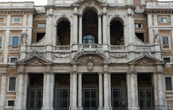 Facade of Basilica di Santa Maria Maggiore in Rome, Royalty Free Stock Photography