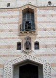 Facade of a basilica of the Lady day in Nazareth, Israel Royalty Free Stock Photography