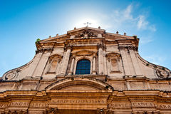 Facade of basilica in Rome Royalty Free Stock Photos
