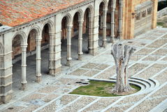 Basilica of San Vicente. Facade of the basilica of San Vicente in Avila, Spain Stock Image