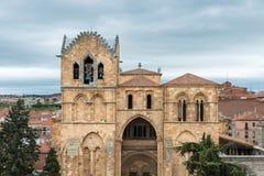 Facade of the Basilica of San Vicente in Avila, Spain Royalty Free Stock Photo