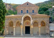 Facade of the basilica of Sant`Angelo in Formis stock image
